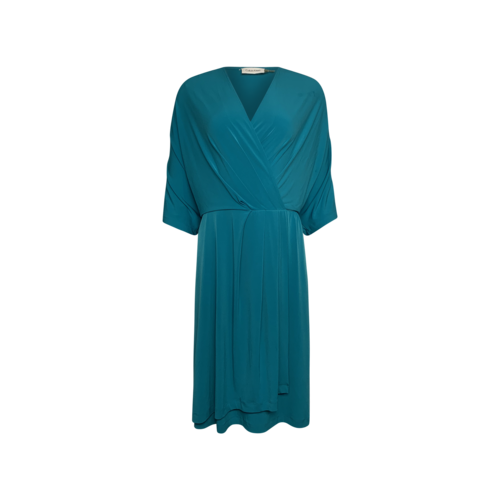 Calvin Klein Turquoise Faux Wrap Dress