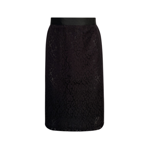 Clements Ribeiro Black Lace Pencil Skirt