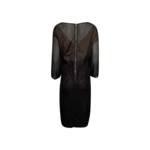 Black Sheer Lace Overlay Dress