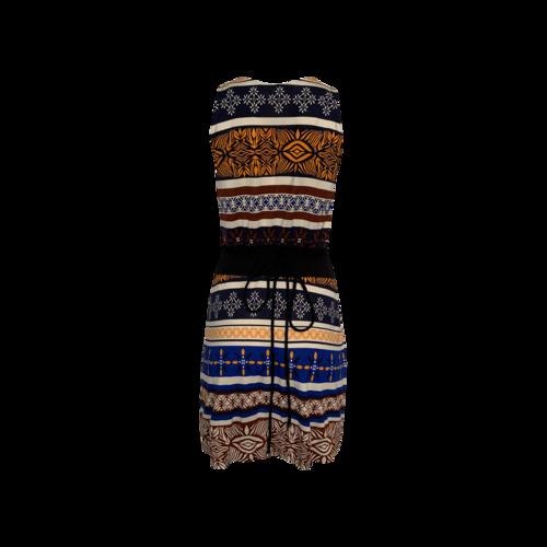 """Oblixe"" Mixed Print Wrap Dress"