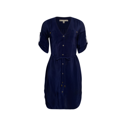 Amanda Uprichard Blue Silk Shirt Dress