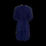Blue Silk Shirt Dress