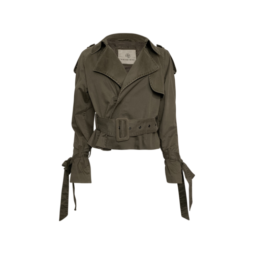 """Annie Bing Green """"Aria"""" Trench Style Jacket"""
