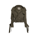 """Green """"Aria"""" Trench Style Jacket"""