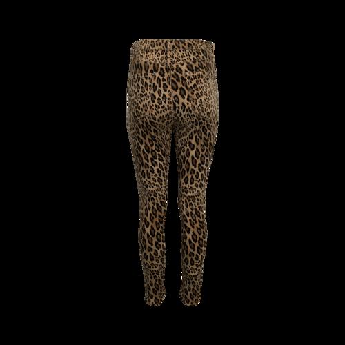 """Leopard Print """"Ali"""" High Rise Cigarette Jean"""