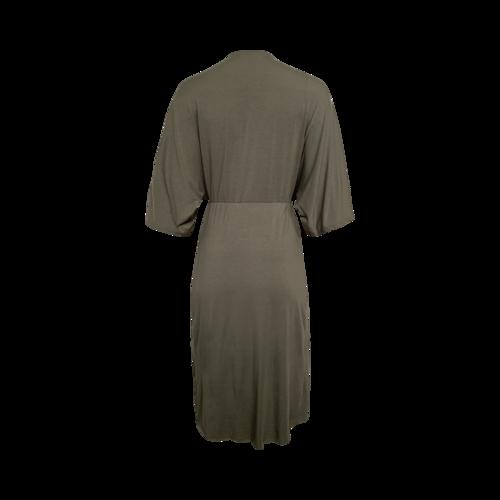 """Green """"Sorina"""" Twist-Front Dress"""