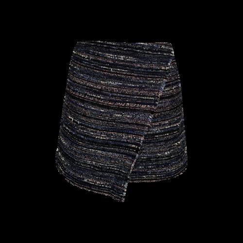 """Diane von Furstenberg """"Austyn"""" Black Tweed Wrap Skirt"""