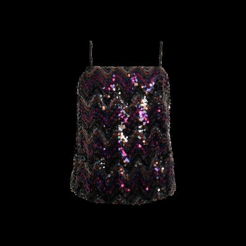 Vintage Jo Ed Sophisticates Multi-Color Sequin Top