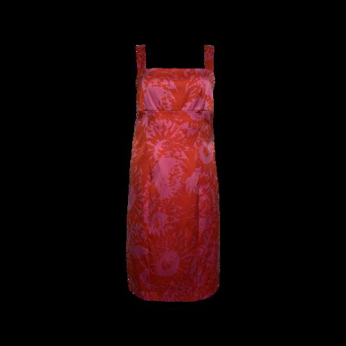 "Diane von Furstenberg Pink ""Carmela"" Printed Dress"