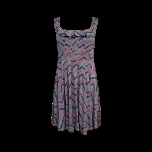 Marc Jacobs Multi-Color Chevron Print Dress