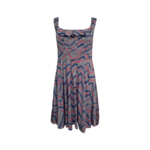 Multi-Color Chevron Print Dress