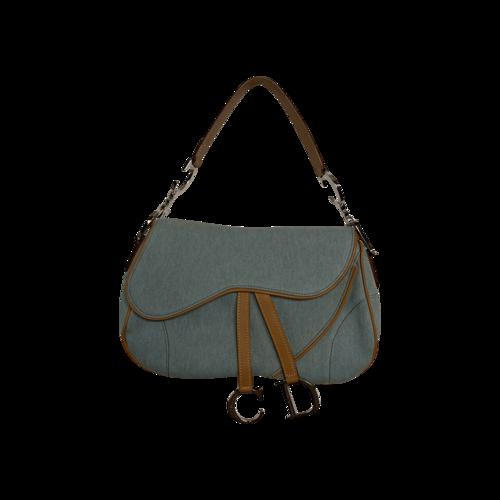 Dior Light Blue Double Saddle Handbag