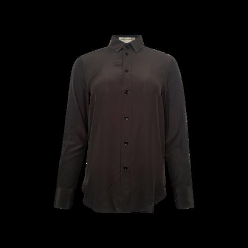 Yves Saint Laurent Black Silk Button Up Shirt