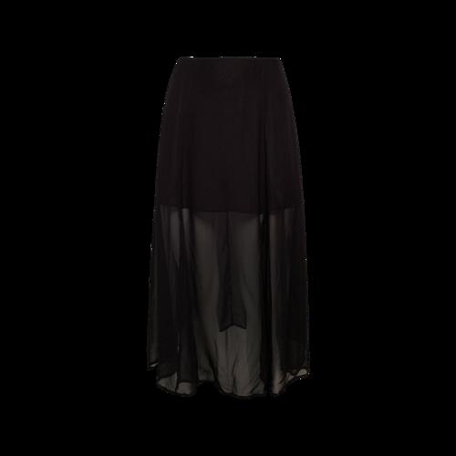 Reformation Black Illusion Hem Skirt w/ Side Slits