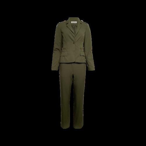 Calvin Klein Green 2-Piece Jacket and Pants Suit Set