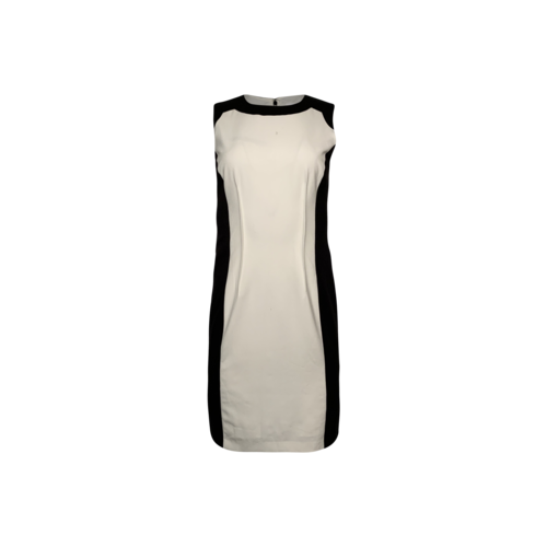 Calvin Klein Black and White Color Block Sheath Dress