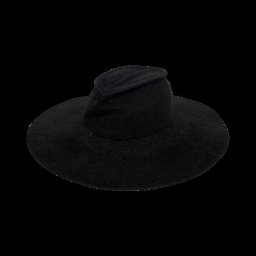 Gladys Tamez Millinery Black Wide Brim Hat