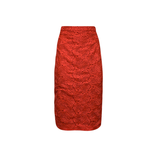 """ALC Pink """"Towner"""" Lace Pencil Skirt"""