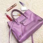 Leather Small Purple Tote