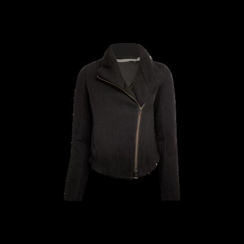 Vince Black Cotton Moto Jacket