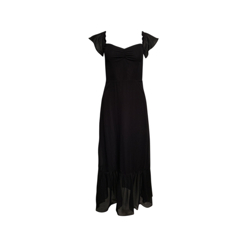 Reformation Black Sheer Midi Dress