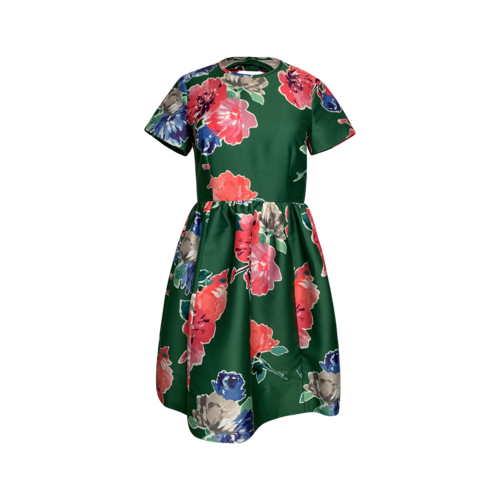 "Kate Spade Green Floral Print ""Stelli"" Dress"