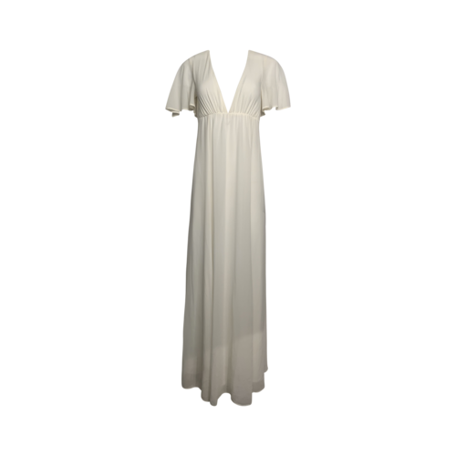 Show Me Your Mumu White Open-V Flowy Gown