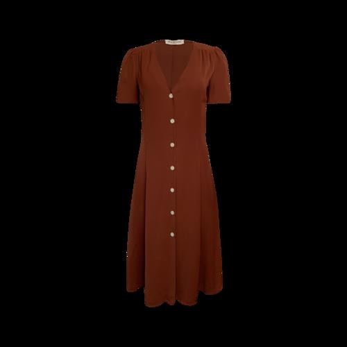 "Amanda Uprichard Rust Orange ""Maura"" Dress"