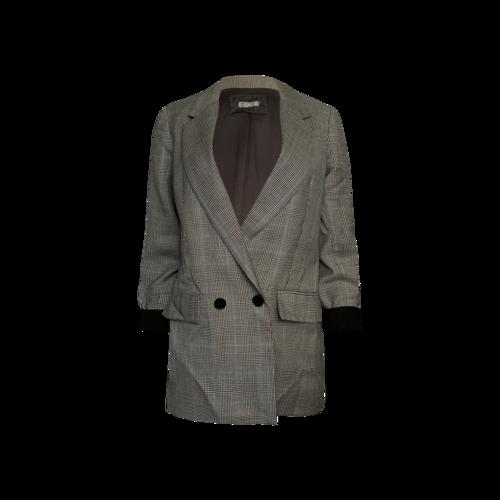 Reformation Grey Plaid Blazer
