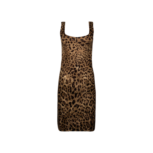 Dolce & Gabbana Leopard Print Body-Con Dress