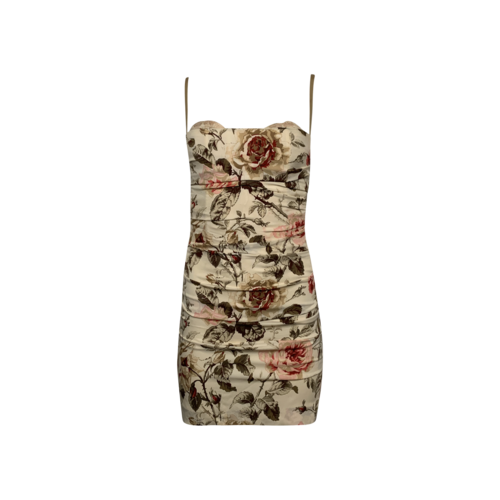 Dolce & Gabbana Floral Print Ruched Dress