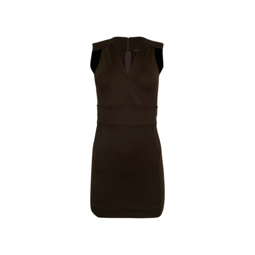 Gucci Body-Con Dress w/ Textured Side Panels