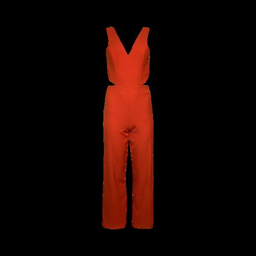 NBD x Naven Orange Side Cut-Outs Jumpsuit