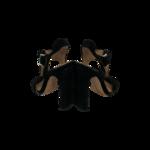 """Black """"Vera"""" Sude T-Strap Sandals"""