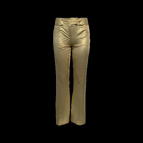 Dolce & Gabbana Gold Shimmer Lame Pants