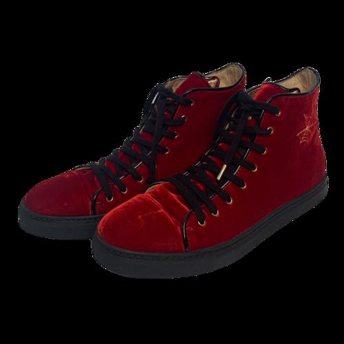 Charlotte Olympia Velvet High-Top Sneakers