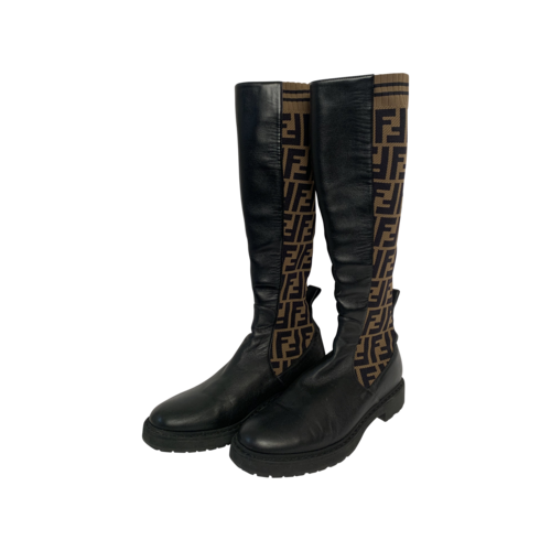 """Fendi Logo """"Rockoko"""" Boots"""
