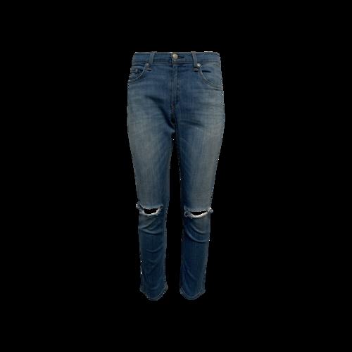 rag & bone Blue Capri Distressed Jeans