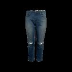 Blue Capri Distressed Jeans