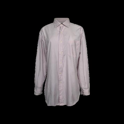 """Ralph Lauren Pink Pinstripe """"Philip"""" Polo Long Sleeve Button Up Shirt"""