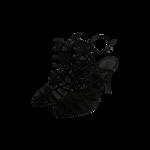 "Black ""Juliana"" Caged Sandals"