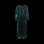 Green Sequin Tie-Front Jumpsuit