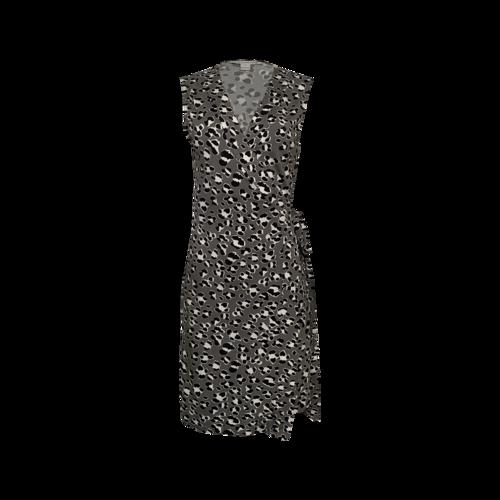 """Diane von Furstenberg Printed """"New Yahzi"""" Short Sleeve Wrap Dress"""