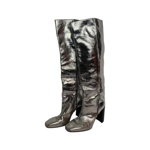 rag & bone Metallic Silver Knee High Boots