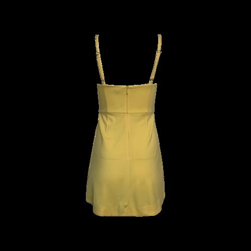Yellow Bustier Bodice Dress