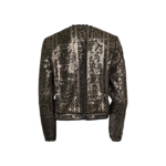 Grey Sequin Open Front Jacket