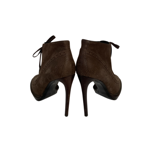 Brown Prorsum Leather Oxford Boots