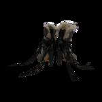 """Neta"" Black Leather Suede Rabbit Fur Ankle Boots"