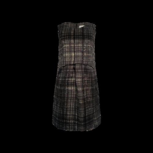 Milly Plaid Pop-Over Sheath Dress