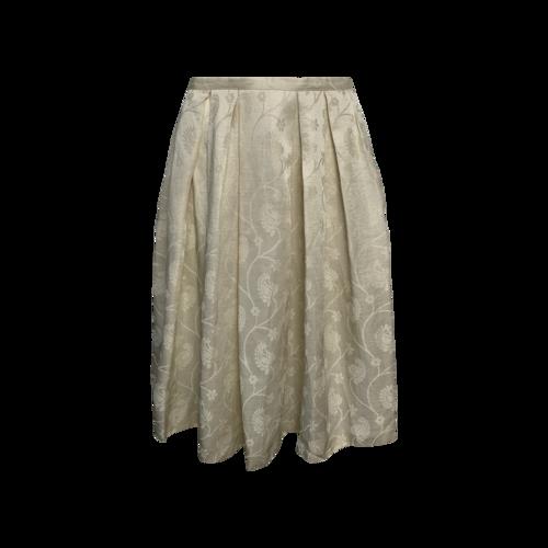 Emporio Armani Ivory Paisley Skirt